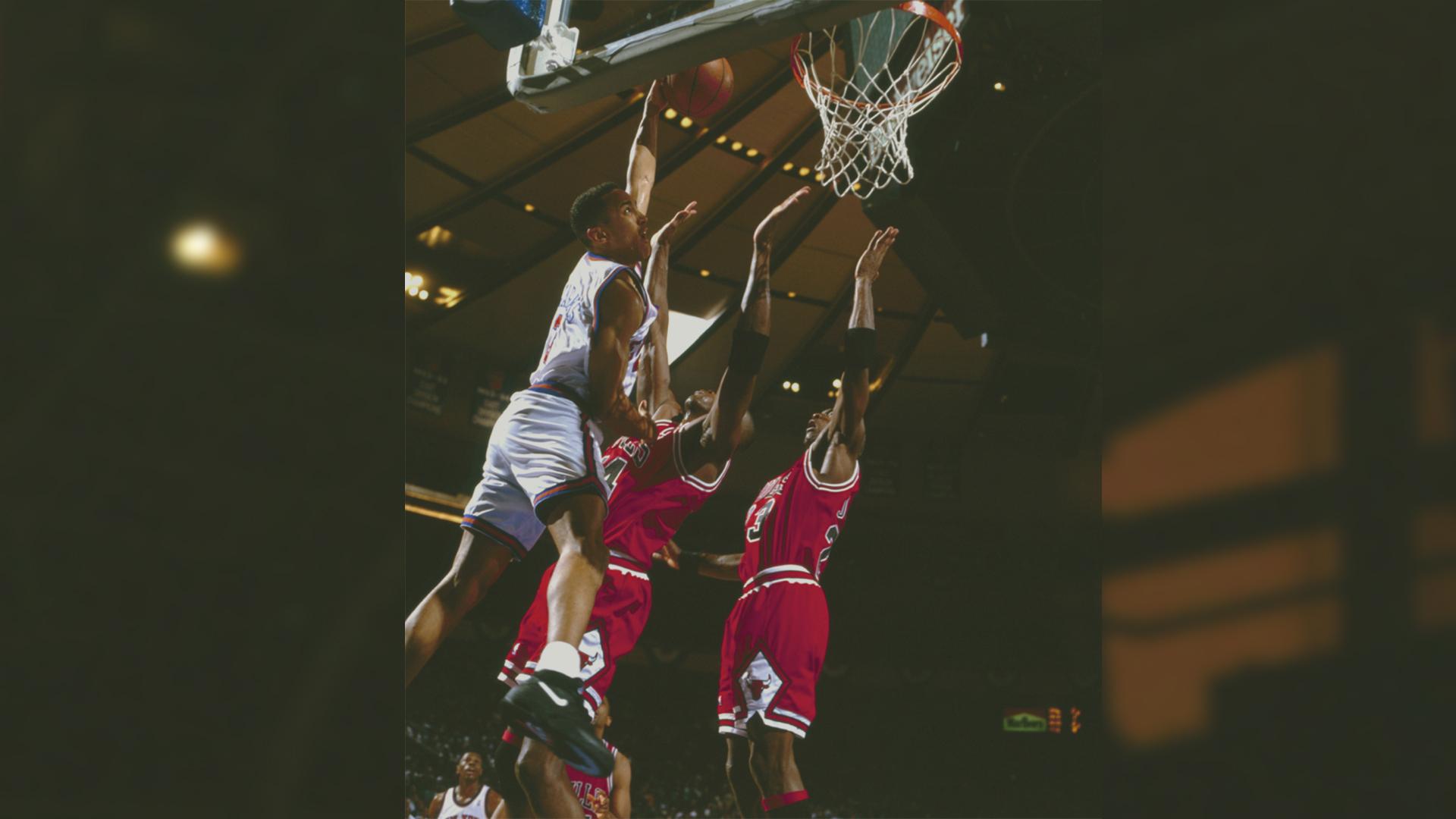 SI Now John Starks relives dunking on Michael Jordan