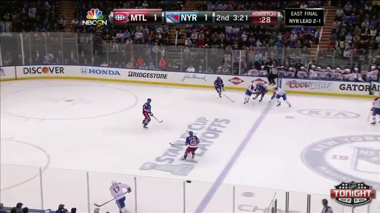 Rangers edge Canadiens in OT to extend series lead