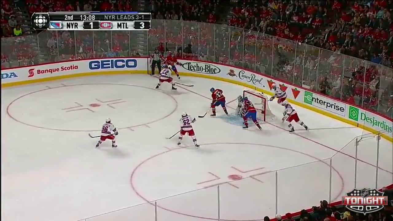 Bourque's hat trick helps Habs top Rangers in Game 5