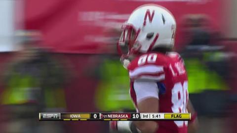 Burkhead, No. 22 Nebraska defeats Iowa 20-7